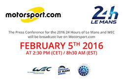 Conferenza stampa 24 Ore di Le Mans 2016 e WEC