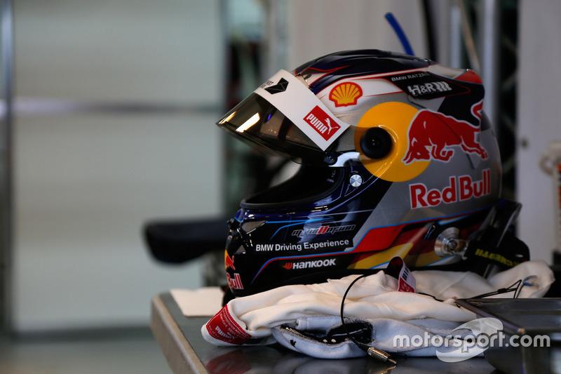 Il casco di Marco Wittmann, BMW Team RMG, BMW M4 DTM