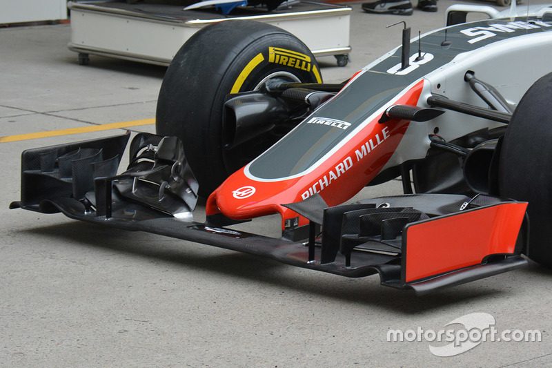 Haas F1 Team VF-16 front detail