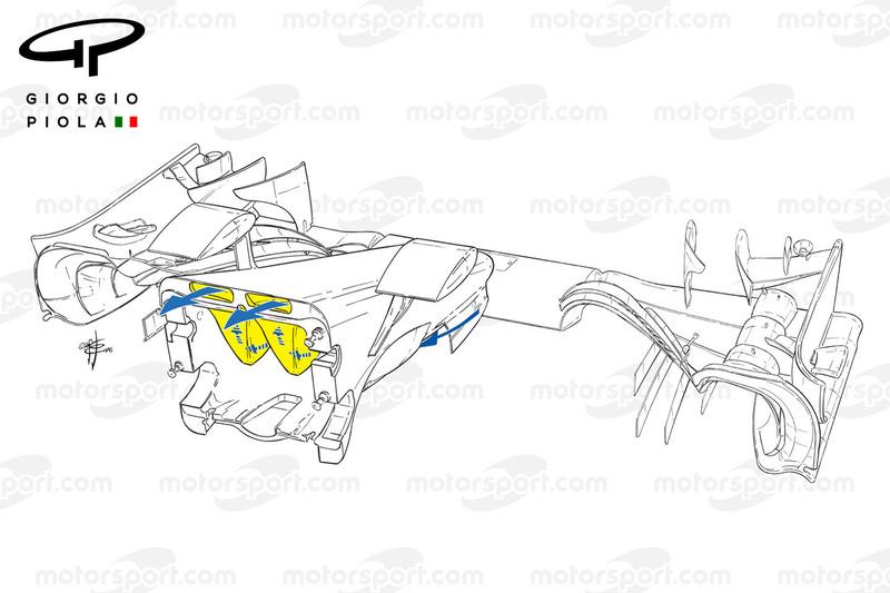 Mercedes W07 nose, outline
