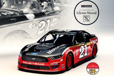 Wood Brothers Racing throwback renk düzeni