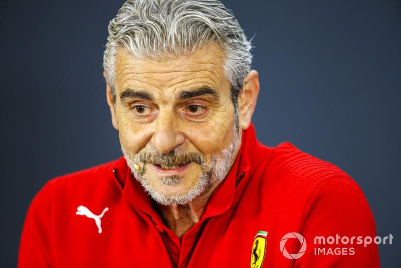Maurizio Arrivabene, director del equipo, Ferrari, en la conferencia de prensa de los directores de equipo