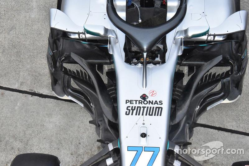 El Mercedes-AMG F1 W09 de Valtteri Bottas