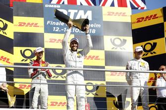 Champion Gary Paffett, Mercedes-AMG Team HWA, second place René Rast, Audi Sport Team Rosberg, third place Paul Di Resta, Mercedes-AMG Team HWA