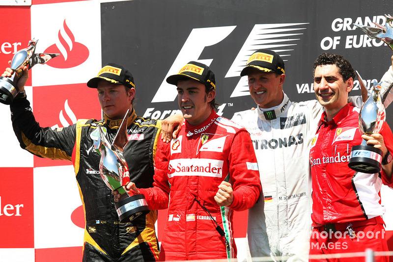 Más tiempo entre el primer y último podio: 20 años, 3 meses y 2 días