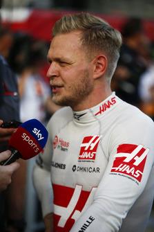 Kevin Magnussen, Haas F1 Team, viene intervistato da Sky Sports