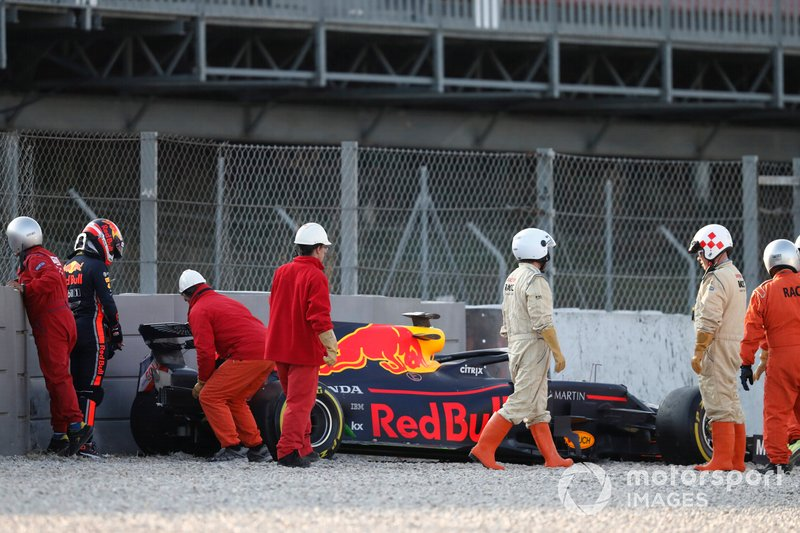 Pierre Gasly, Red Bull Racing RB15, tras su accidente