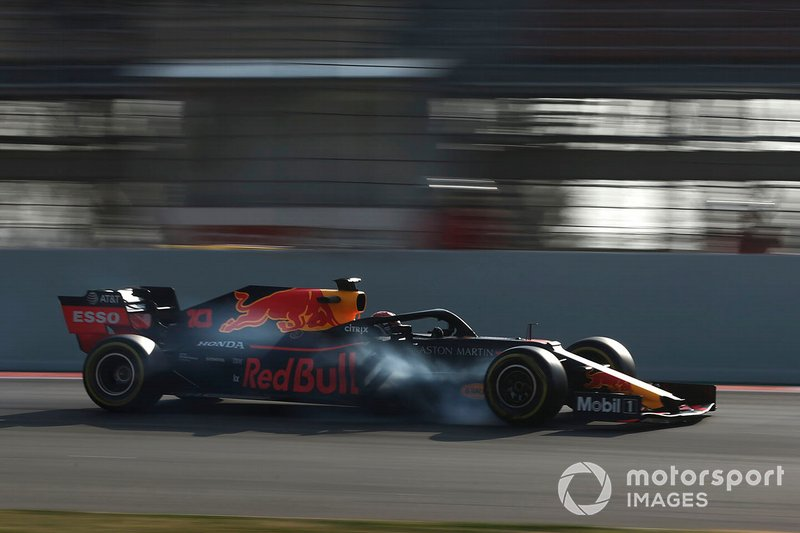 Pierre Gasly, Red Bull Racing RB15, bloccaggio