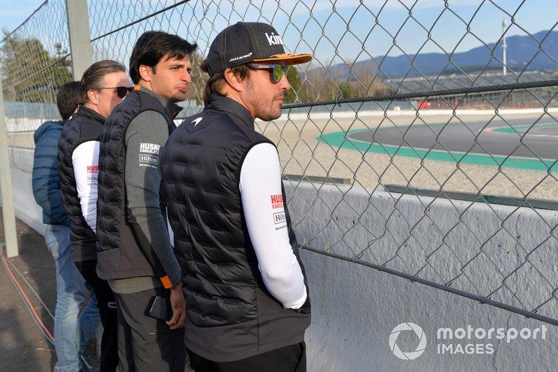 Генеральний директор McLaren Racing Зак Браун, Карлос Сайнс-мол., McLaren, Фернандо Алонсо