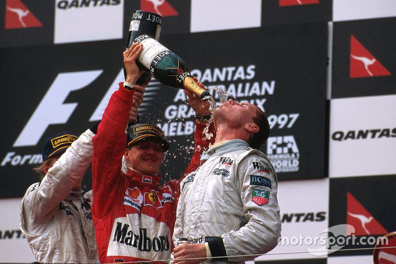 Podium: 1. David Coulthard, McLaren Mercedes; 2. Michael Schumacher, Ferrari; 3. Mika Häkkinen, McLaren Mercedes