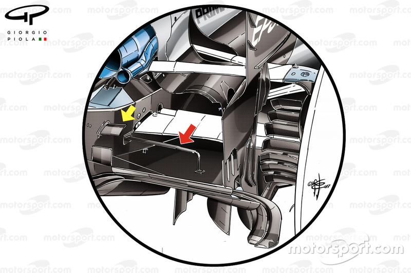 Modifications au diffuseur de la Mercedes W08