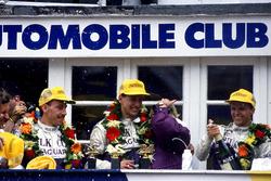Podium: Jan Lammers, Johnny Dumfries, Andy Wallace, Jaguar XJR-9 LM
