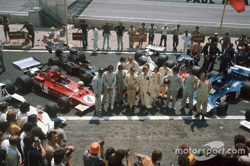 Graham Hill, George Follmer, Wilson Fittipaldi, Emerson Fittipaldi, Carlos Reutemann, Denny Hulme, Jackie Oliver, Ronnie Peterson, Arturo Merzario, Jody Scheckter, Jackie Stewart and François Cévert