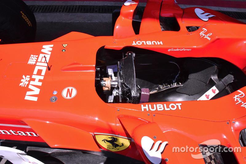 Le cockpit de la Ferrari SF70H