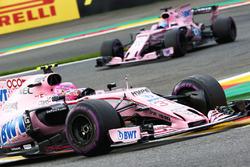 Esteban Ocon, Sahara Force India VJM10, Sergio Perez, Sahara Force India VJM10