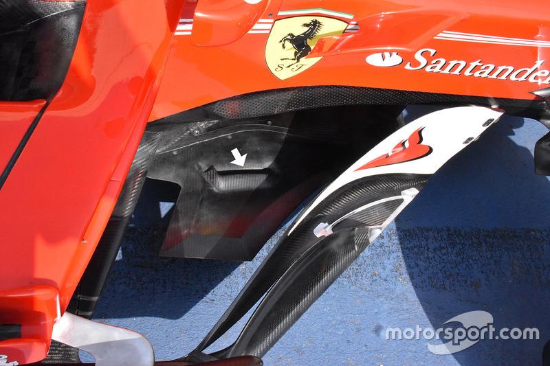 Ferrari SF70H üçgen splitter uzatmaları