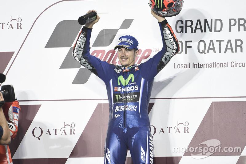 Kemenangan menandai debut Vinales bersama Yamaha