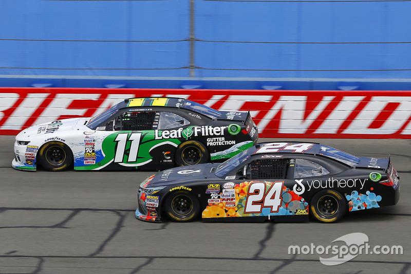 Blake Koch, Kaulig Racing, Chevrolet; Corey Lajoie, JGL Racing, Toyota
