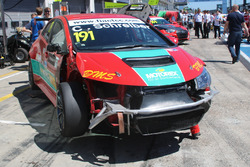Christjohannes Schreiber, Honda Civic, Rikli Motorsport, crash