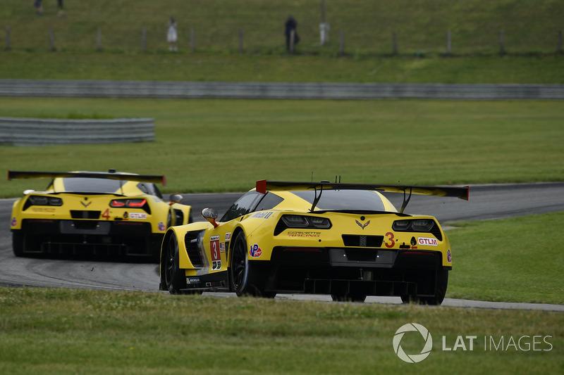 #3 Corvette Racing Chevrolet Corvette C7.R: Antonio Garcia, Jan Magnussen, #4 Corvette Racing Chevro