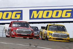 Cody Coughlin, ThorSport Racing Toyota and Austin Wayne Self, AM Racing Toyota