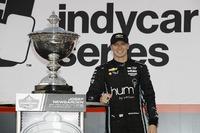 Campeón 2017,  Josef Newgarden, Team Penske Chevrolet celebra