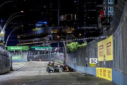 Lewis Hamilton, Mercedes AMG F1 W08, Daniel Ricciardo, Red Bull Racing RB13, Valtteri Bottas, Mercedes AMG F1 W08, Carlos Sainz Jr., Scuderia Toro Rosso STR12 y Nico Hulkenberg, Renault Sport F1 Team RS17