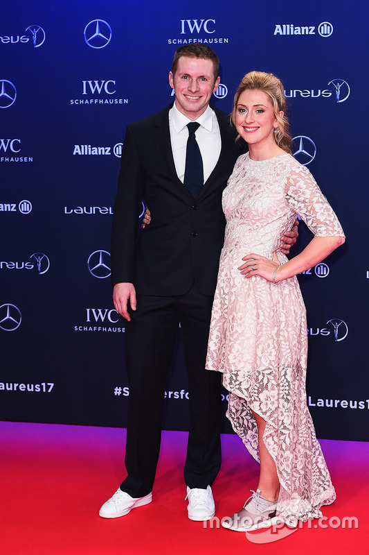 Laura Kenny, Radfahrerin, mit Ehemann Jason Kenny