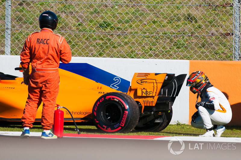 Stoffel Vandoorne, McLaren MCL33 berhenti di trek