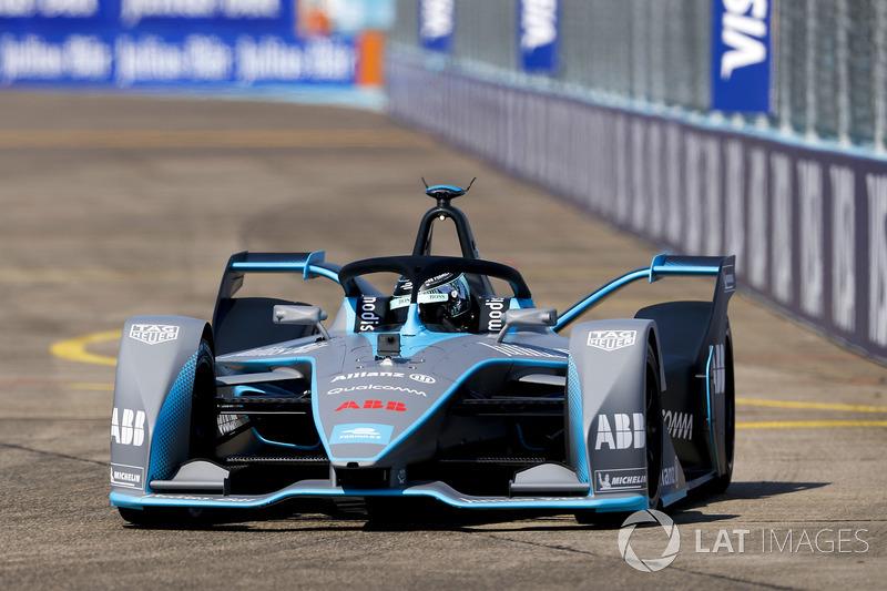 Nico Rosberg, campeón mundial de Fórmula 1, inversionista de Fórmula E, conduce el coche de la Fórmula E