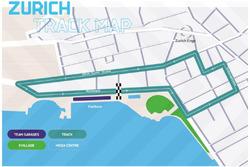 Layout del tracciato dell'ePrix di Zurigo