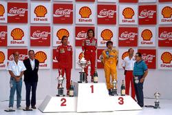 Podium: 1. Alain Prost, McLaren; 2. Gerhard Berger, Ferrari; 3. Nelson Piquet, Lotus