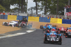 Crash: #1 Rebellion Racing Rebellion R-13: Andre Lotterer, Neel Jani, Bruno Senna, #10 Dragonspeed BR Engineering BR1: Henrik Hedman, Ben Hanley, Renger Van der Zande