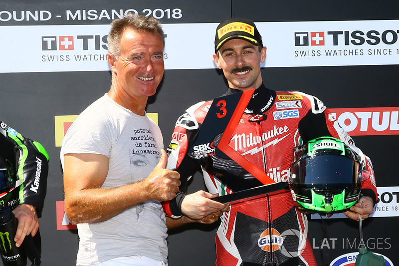 third place Eugene Laverty, Milwaukee Aprilia