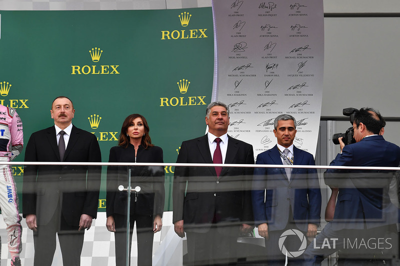 إلهام علييف، رئيس اذربيجان وأزاد رحيموف، وزير الرياضة