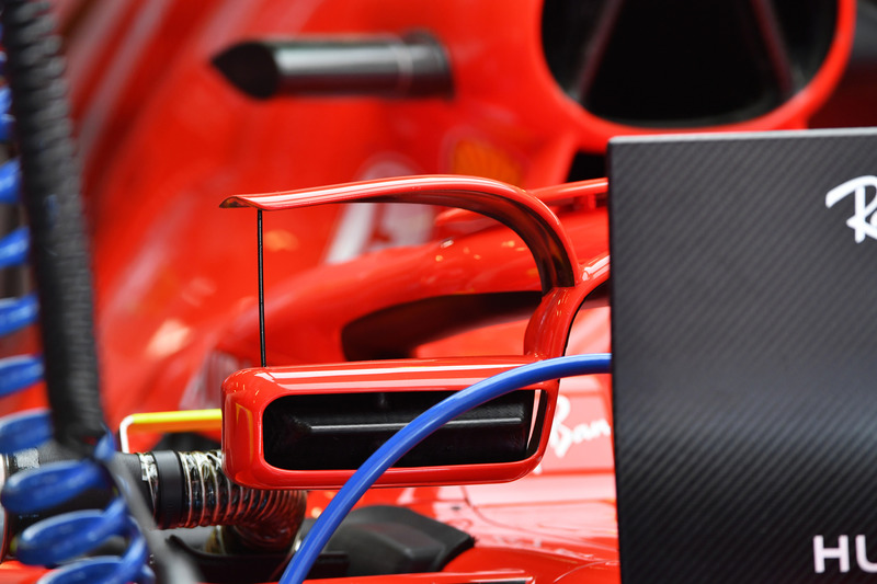 Ferrari SF-71H with mirror on halo detail
