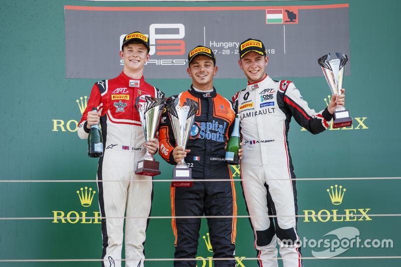 Ilott, Boccolacci et Hubert sur le podium
