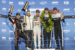 Podium: Worldchampion, Thed Björk, Polestar Cyan Racing, Volvo S60 Polestar TC1, Race winner Esteban Guerrieri, Honda Racing Team JAS, Honda Civic WTCC, second place Rob Huff, All-Inkl Motorsport, Citroën C-Elysée WTCC, third place Nicky Catsburg, Polestar Cyan Racing, Volvo S60 Polestar TC1, Tiago Monteiro, Honda Racing Team JAS, Honda Civic WTCC