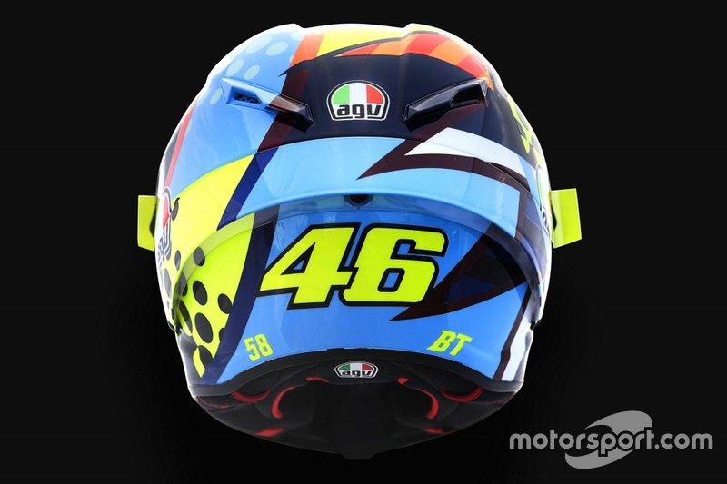 Design del casco di Valentino Rossi