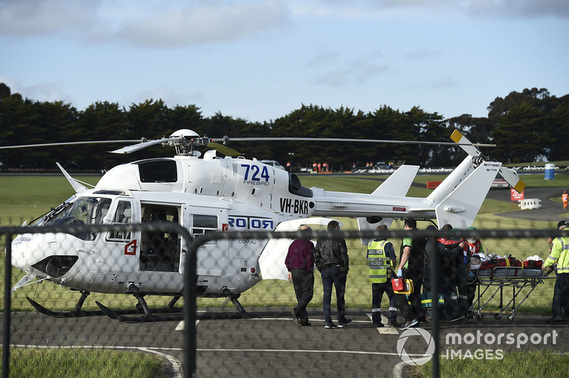 Cal Crutchlow, Team LCR Honda heading to the air ambulance