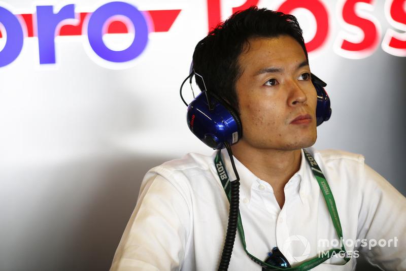 Naoki Yamamoto, campeón de la Super Formula en el garaje de Toro Rosso