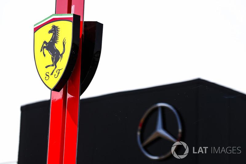 Ferrari and Mercedes motorhomes