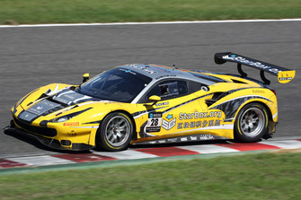 #28 HubAuto Racing Ferrari 488 GT3: Nick Foster, David Perel and Hiroki Yoshida