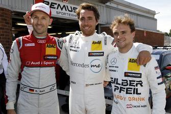 Top 3 after Q1: Pole position for Daniel Juncadella, Mercedes-AMG Team HWA, René Rast, Audi Sport Team Rosberg, Lucas Auer, Mercedes-AMG Team HWA