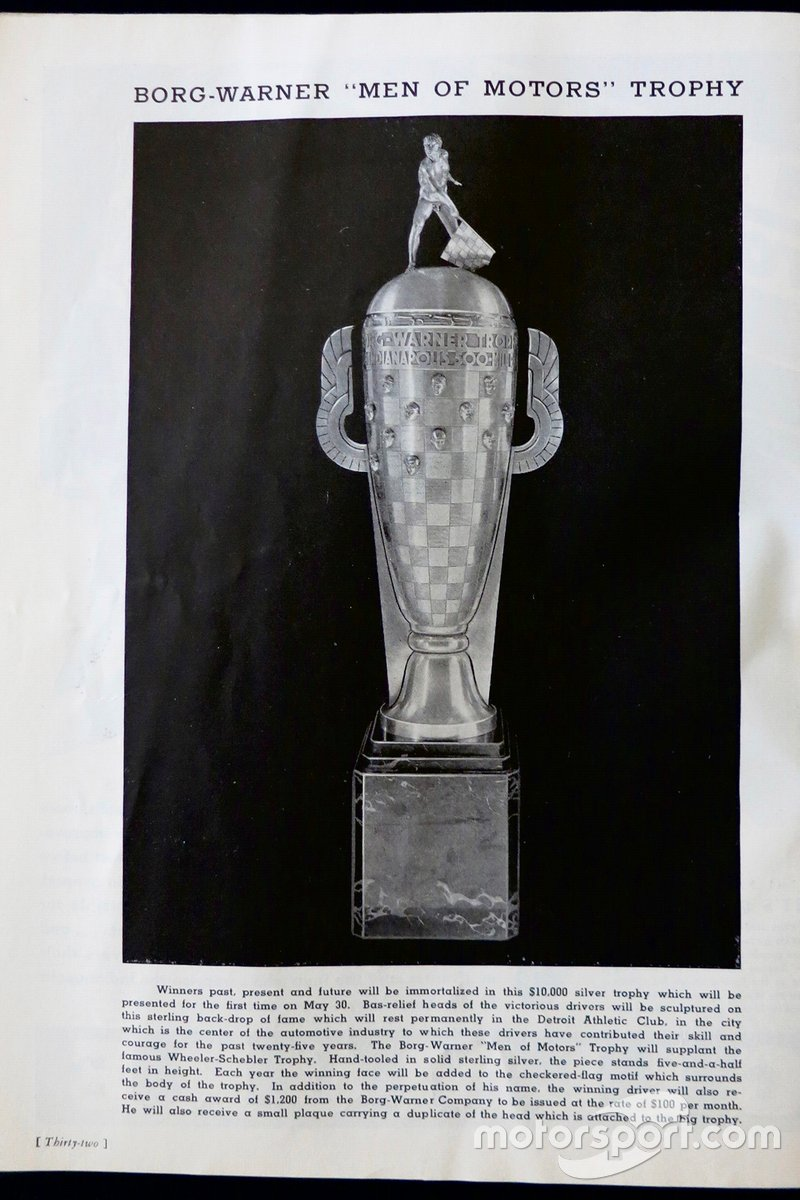 From the 1936 Indy 500 program.