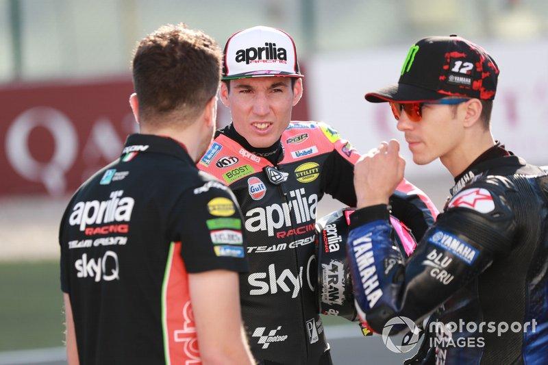 Aleix Espargaro, Aprilia Racing Team Gresini, Maverick Vinales, Yamaha Factory Racing