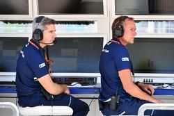 Инженер Sauber F1 Шеви Пухолар и технический директор команды Йорг Цандер на командном мостике