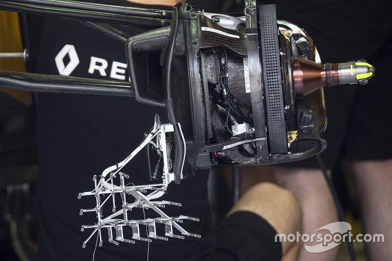 Freno delantero y sensor en el Renault Sport F1 Team RS17