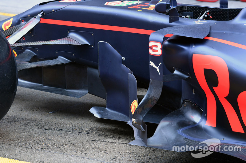 Red Bull Racing RB13, Seitenkasten, Detail