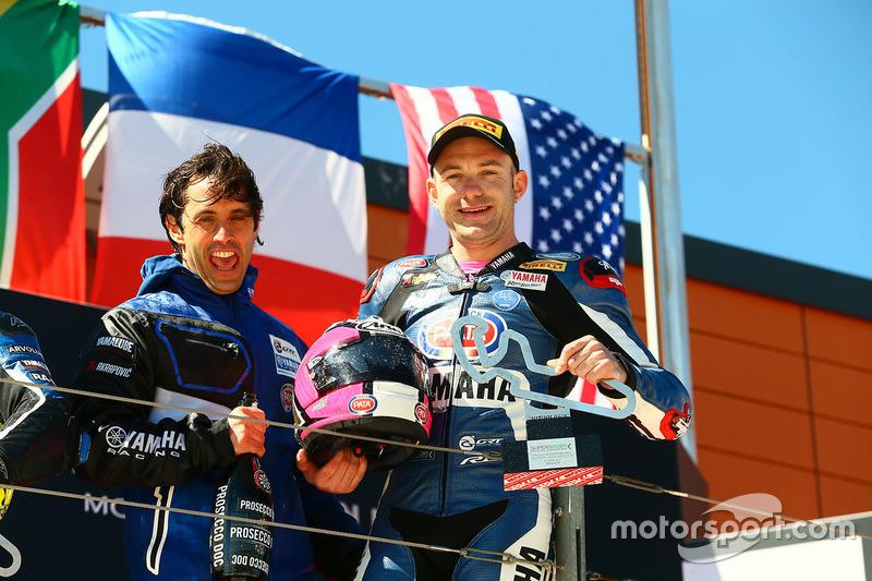 Podium: race winner Lucas Mahias, GRT Yamaha Official WorldSSP Team